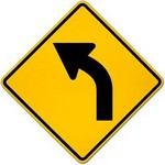 left curve ahead Traffic Signs in Spanish