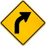 right curve ahead Traffic Signs in Spanish