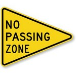 no passing zone Traffic Signs in Spanish