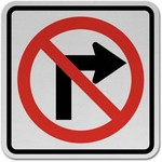 no right turn Traffic Signs in Spanish