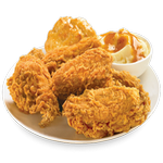 fried chicken fast food in spanish