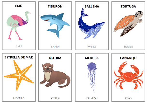 How do you say the names of animals in Spanish?