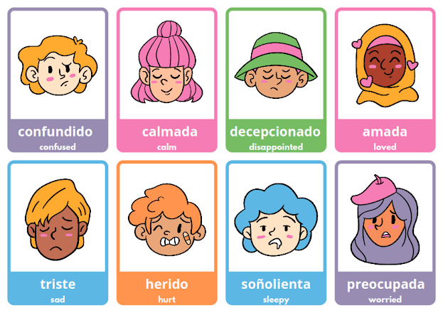 emotions face in Spanish