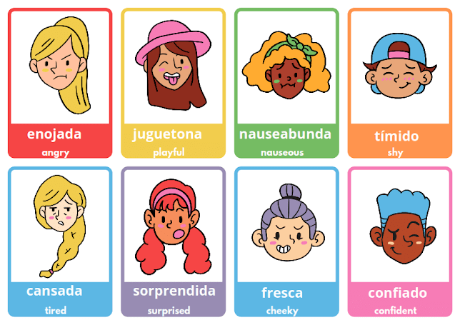 list of emotions in Spanish